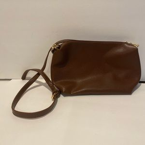 NWT charming Charlie Brown faux leather crossbody